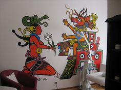 mayan mural in Germany II by Sadboy-Elchicotriste