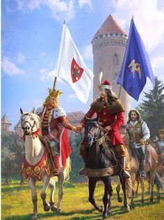 Stephen the Great of Moldova and Vlad the Impaler of Wallachia Vlad Der Pfähler, Vlad El Empalador, Medieval Times, Medieval Art, European History, World History, Military Art, Military History, History Of Romania