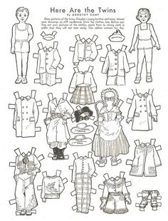 Vintage Halloween Twin Paperdolls by Wyld_Hare  -Repinned by Totetude.com