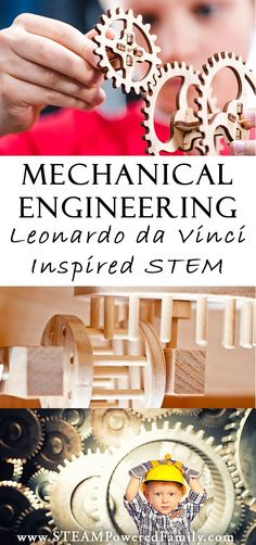 Mechanical engineering for kids: the study of machines is a stem study for kids interested in how things work, just like Leonardo da Vinci via /steampoweredfam/ Steam Activities, Science Activities, Activities For Kids, Science Books, Science Education, Science Experiments, Higher Education, Computer Science, Stem Projects