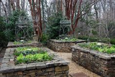 creating garden beds with natural materials - Google Search