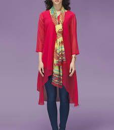 Buy Pink Chiffon Fancy Tunic kurtas-and-kurti online