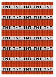 Papercraft Printable Paper Chain Template TNT Minecraft