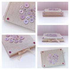 Album fotografico artigianale -  Handmade photo album with buttons decoration