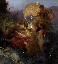 "silenceformysoul: ""Henryk Hektor Siemiradzki - The Temptation of St Jerome (detail) "" Aesthetic Painting, Aesthetic Art, Fairytale Art, Classical Art, Renaissance Art, Old Art, Art Plastique, Pretty Art, Oeuvre D'art"