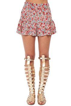 Floral Frill Shorts at Blush Boutique Miami - ShopBlush.com