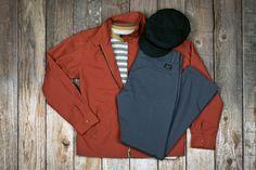 #brixton Edwin jacket, Linus shirt, Toil Chino pant & Fiddler hat.