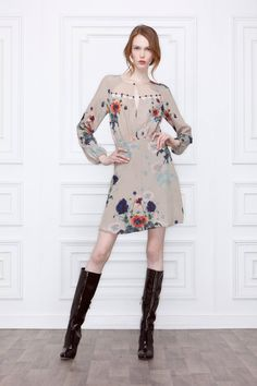 Leifsdottir: Ottoman Poppies Dress. Silk scalloped cut out bodice and keyhole neckline, with buttons. Side zip. Badly pinned to make the dress shorter than it is, on an emaciated model. https://s-media-cache-ak0.pinimg.com/originals/4a/03/08/4a030852c13f27f6c324527ad9427cfe.jpg