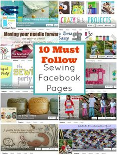 10 Must Follow Sewing Facebook Pages | patchwork posse | easy sewing projects and free quilt patterns