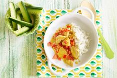 Kijk wat een lekker recept ik heb gevonden op Allerhande! Opperdepop: kokoskip met ananas 1-2 jr
