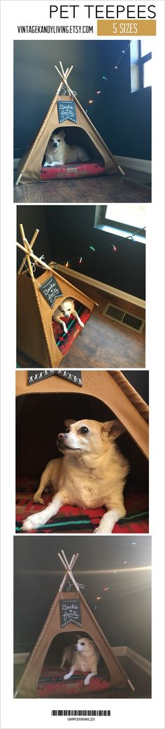 Handmade with love  The original pet teepee ⛺️ over 800 sold!  #petteepee #doglovers #dogstuff #dogs #cats #catlovers #kitty #tipi #teepee #dogteepee #catteepee #handmade #etsy #etsygifts #petsupplies #doggies