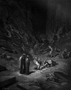 Scene from Dante's Inferno. Mind-blowing illustration.