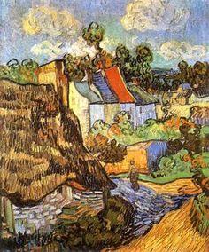 Houses at Auvers, c.1890 Art Print by Vincent Van Gogh