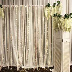 リボンカーテンの飾り付けデコレーションアイデア | marry[マリー]