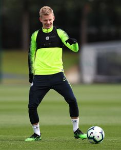 MANCHESTER, ENGLAND - MAY Manchester City's Oleksandr Zinchenko in action during the training session at Manchester City Football Academy on May 2019 in Manchester, England. (Photo by Matt McNulty - Manchester City/Man City via Getty Images) Manchester England, Manchester City, Action, Football, Sports, Model, Training, Hs Football, Hs Sports