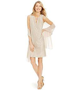 Jessica Howard Sleeveless Lace Shift Dress Jessica Howard…