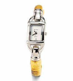 Womens Silver Tone Synthetic Bamboo Bracelet Watch Da Vinci. $20.99. Save 72%!