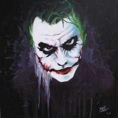 Why so serious? by SereneIllustrations on DeviantArt Batman Wall Art, Batman Painting, Dark Landscape, Joker Art, Fantasy Illustration, Acrylic Painting Canvas, Beautiful Paintings, Painting Inspiration, Cool Art