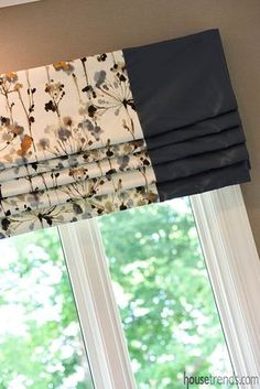 Changing the window treatments in any room can instantly update the space. Changing the window treatments in any room can instantly update the space. Farmhouse Window Treatments, Valance Window Treatments, Window Treatments Living Room, Living Room Windows, Window Coverings, Treatment Rooms, Roman Curtains, Roman Blinds, Burlap Curtains