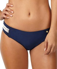 Look what I found on #zulily! Navy Cut-Out Bikini Bottoms #zulilyfinds