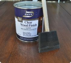 Centsational Girl » Blog Archive How to Restain A Wood Table Top - Centsational Girl