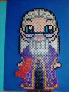 Harry Potter Dumbledore hama beads by Moosecastle