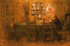 1898 Carl Larsson 'Homework.'