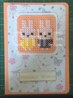 Cross Stitch Cards, Cross Stitch Embroidery, Cute Sewing Projects, Cross Crafts, Marianne Design, Birthday Wishes, Needlepoint, Needlework, Stamp