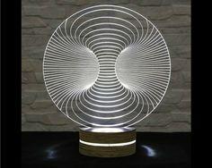 3D LED Lamp, Acrylic Lamp, Art of Light, Home Decor, Artistic Lamp, Night Light, Table Light, Office Decor, Nursery Light by ArtisticLamps