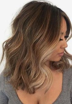 Stunning gallery of best images for short medium and wavy haircuts to sport in 2017 and 2018. This is the best combination brown and blonde hair colors.
