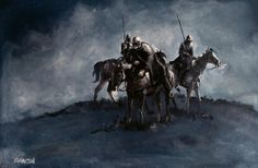 """Reivers Moon by Edward Martin, Painters Online - """"I would have none think that I call them thieves...The freebooter ventures both life and limb, Good wife and bairn, and every other thing; He must do so, or else must starve and die, For all of his livelihood comes of the enemy."""" (Walter Scott of Satchells - about the men who lived along the Anglo-Scottish Borders, the Border Reivers, and in particular, the Armstrongs)"""