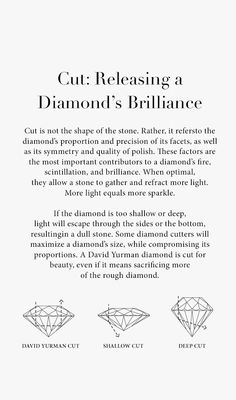 Diamond Education & Diamond Buying Tips from David Yurman