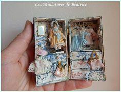 Malle pour petite poupée en porcelaine. Maison de par Beatrice5804