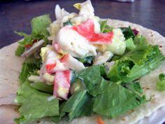 Imitation Crab Salad. I like to add shrimp to mine.