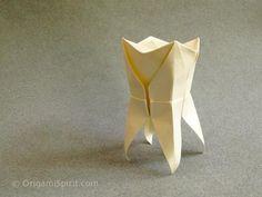 #Origami Tooth by #LeylaTorres ... design by #MarcKirschenbaum