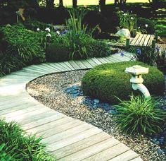 Wooden deck path