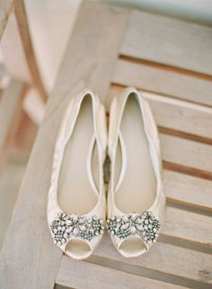 white wedding shoes http://www.weddingchicks.com/2013/09/26/light-pink-and-gray-wedding/