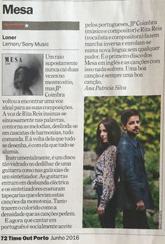 """Obrigado TimeOut pelas honras de 2ª Página e pela review do nosso """"Loner""""!  #MESAOficial #MESALoner #Loners"""