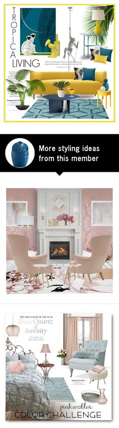 """""""Tropical Living"""" by ollie-and-me on Polyvore featuring interior, interiors, interior design, hogar, home decor, interior decorating, Seletti, Cappellini, Fable y ASA"""