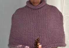 The RAVENNA Cape/Poncho  Women's Hand knit by PineconesAndPurls