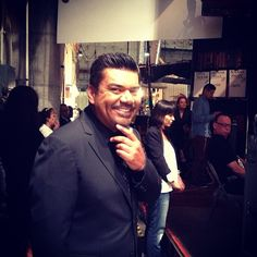 The dapper @George Lopez is backstage ready for #TheTalk next! Tune in.