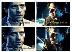 """Castiel and Eleven, after """"The Angels Take Manhattan"""" #SuperWho"""