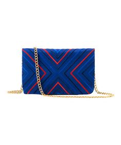 Take a look at this Navy Venezia Silk Shoulder Bag by Shiraleah on #zulily today!