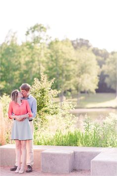 Spring Engagement Session at Furman University in Greenville, SC
