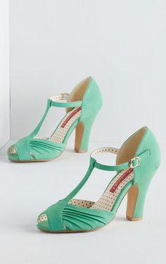 Retro Mint Heels