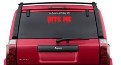 BITE ME  Twilight book decal sticker car truck windows