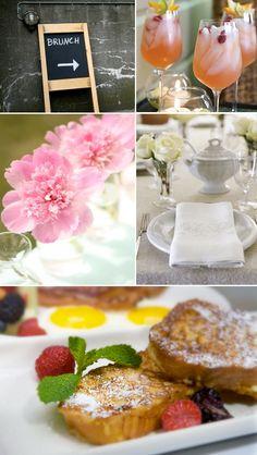 bridal shower brunch ideas:  grandma's quiche  peach bellinis  coffee lattes