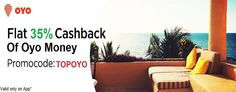 Grab 35% Oyo Money Cashback On Hotel Booking At Oyorooms