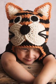 Tiger Crochet Hat Pattern Instant Download by SweetKiwiCrochet