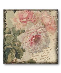 Take a look at this Rose Flower Canvas Wall Art by COURTSIDE MARKET on #zulily today!